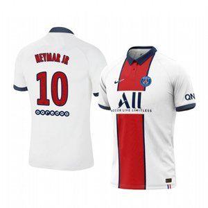 Paris Saint-Germain Neymar JR White Jersey 20-21